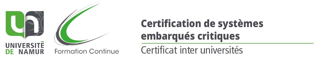 Certificat d'université en certification de systèmes embarqués critiques