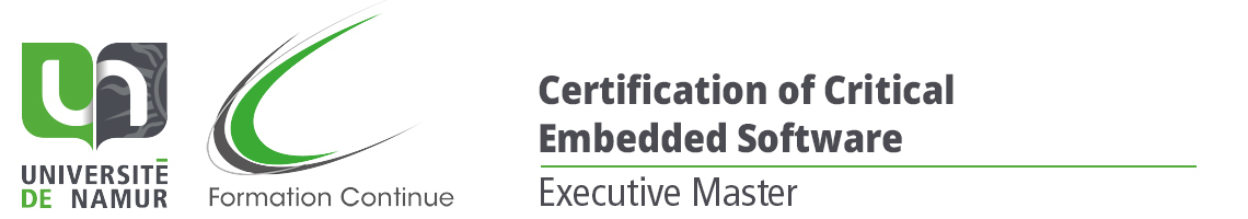 Executive Master in Certification of Critical Embedded Software (CEES)