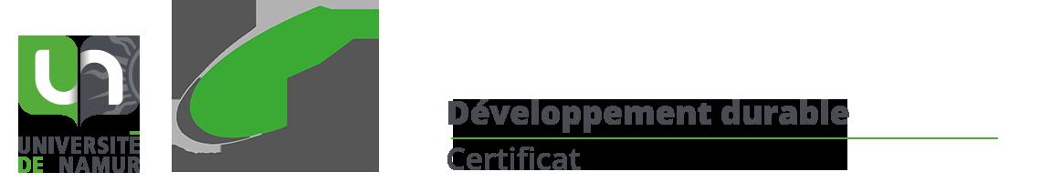 Certificat en développement durable