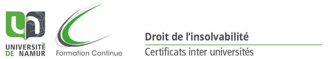 Certificats en droit de l'insolvabilité