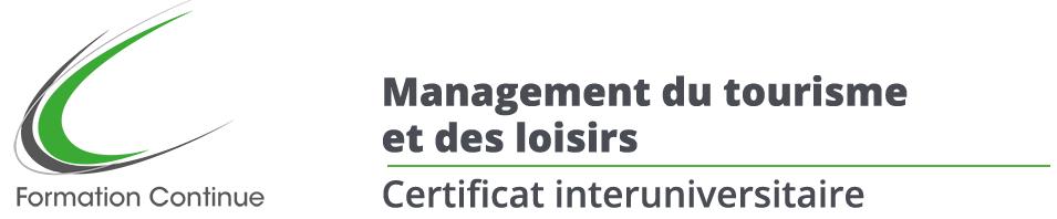Certificat en management du tourisme et des loisirs